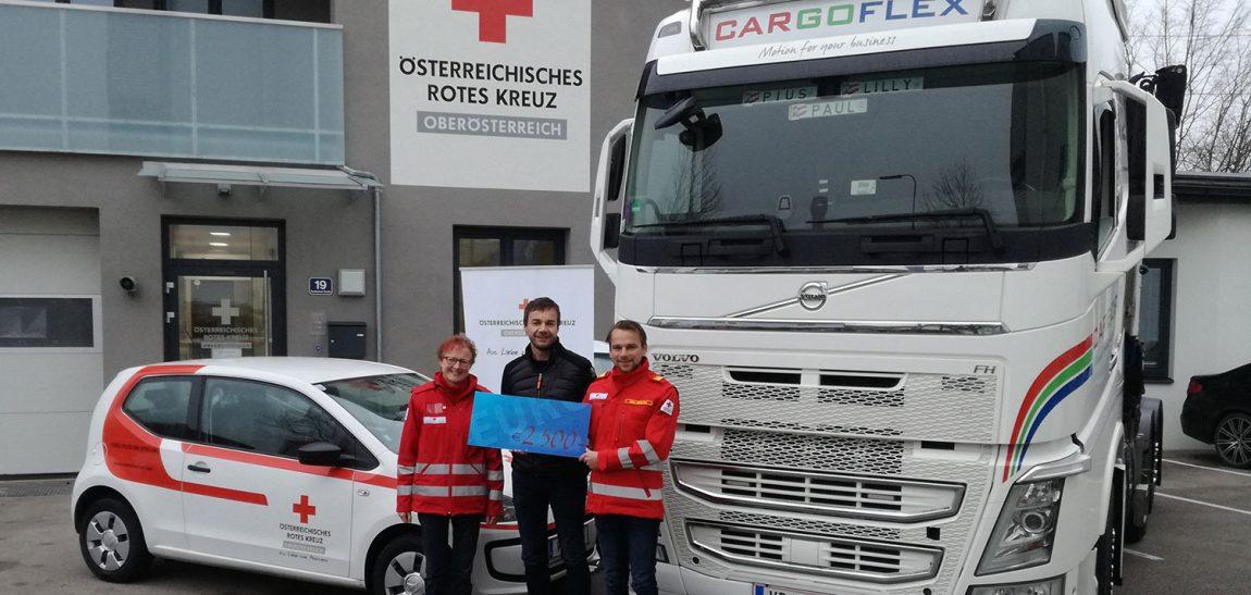 Cargoflex zeigt soziale Verantwortung